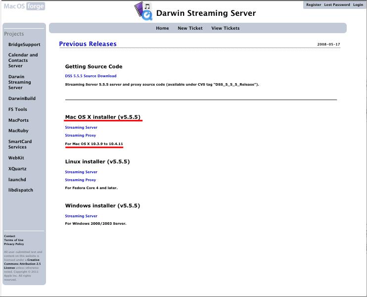Darwin Streaming Server2